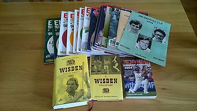 Cricket collection - programmes and books