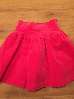 ⭐️Darcy Brown Designer Girls Fuchsia Velveteen Skirt - Age 7 - 8 Yrs BNWT £60⭐️
