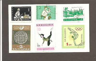 Bulgaria  6   Fine Used   Stamps Hng On Card