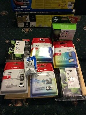 8 canon And Hp ink cartridges