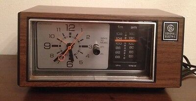 General Electric GE Vintage Alarm Clock - Radio Does NOT work, Click Does Work
