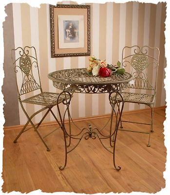 PATIO BALCONY FURNITURE SET Wrought iron GRÜNDERZEIT ERA Wrought Iron set