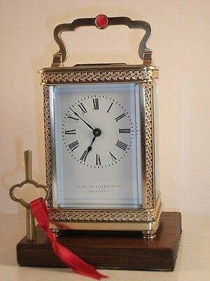 Antique French carriage clock C1895. With key. Restored & serviced in Nov. 2016.