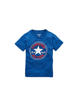 Converse Boys Chuck Patch T-Shirt in Blue Size 6-7 Years