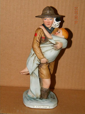 """Norman Rockwell Figurine """"A Scout is Helpful"""" Boy Scouts of America (BSA)"""
