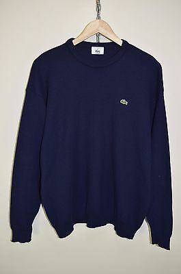 LACOSTE ORIGINAL CASUALS COTTON KNITTED CREW NECK JUMPER SWEATER size 5 - MEDIUM