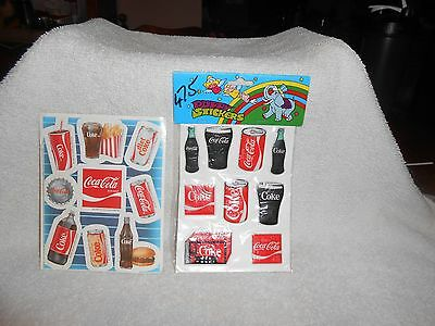 Coca-Cola Puffy Stickers & Pack of Regular Stickers