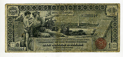 U.s. 1896 $1 Silver Certificate Educational Note **nice Note!!