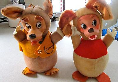 ~Rare Vintage Gund Disney LADY and THE TRAMP Roly Poly Characters Exc Condition