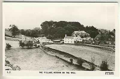 A Frith Real Photo Card of The Village, Heddon On The Wall. Northumberland