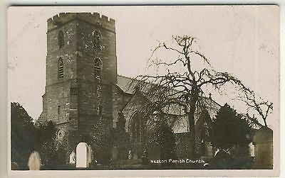 An Early Real Photo Post Card of Neston Parish Church. Wirral, Cheshire