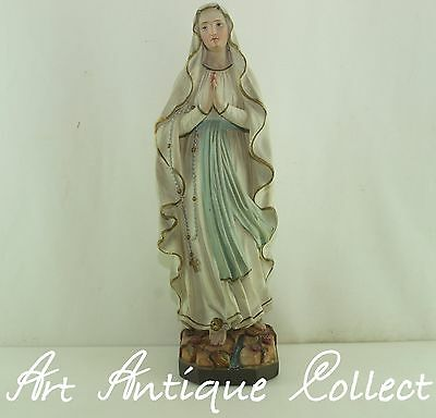 Antique Mary Child Sacral Holy statue Madonna Marie figure Sculpture Stuck LARGE