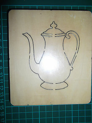 TEA POT/ COFFEE POT *  Cross-cuts * retired wooden die cutter * FREE GIFTS! NEW