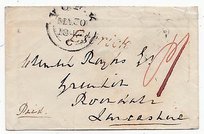 1842 Yorkshire Rare Escrick Pmk Cover York To Clement Royds At Rochdale Lancs