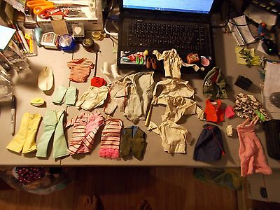 Vintage Mattel BARBIE AND KEN CLOTHES AND ACCESSORIES SOME LOOK ALIKES