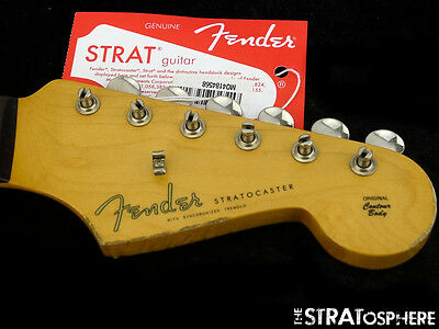 Fender Vintage 60s RI Road Worn Strat NECK & TUNERS Stratocaster Relic Rosewood