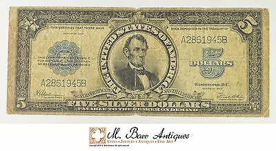1923 $5 Silver Certificate US Currency Note Porthole *032