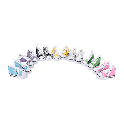 7.5cm Canvas Shoes BJD Doll Toy Mini Doll Shoes for 16 Inch Sharon doll Boots HU