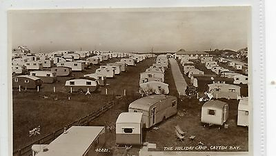 Cayton Bay Holiday Camp Yorkshire. Lots of Caravans.Old Picture Postcard. Scan
