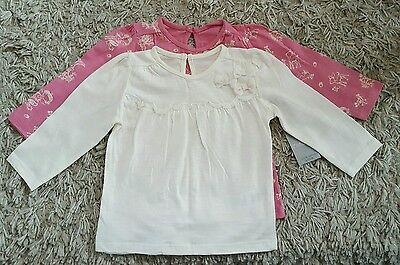 one plain cream, 1 pink with deers/fairies, 9-12 months, new with tags