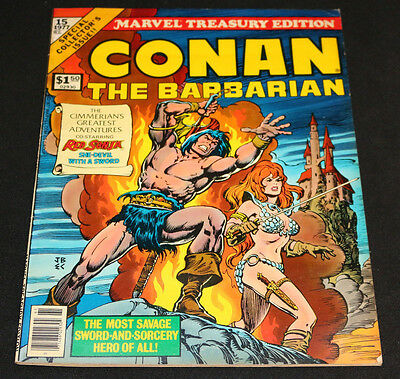 1977 Marvel Treasury Edition Conan The Barbarian #15 Red Sonja Cover (F)