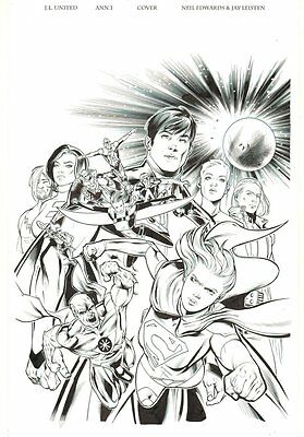 Justice League United Ann #1 Cover - Legion of Super-Heroes 2014 by Jay Leisten