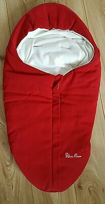 silver cross surf chilli red baby snug accessory