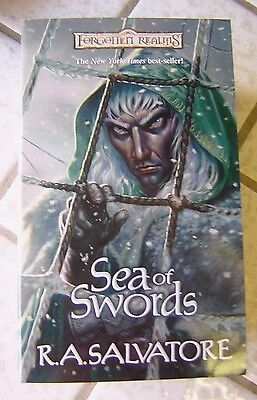 Sea of Swords by R. A. Salvatore ~ Paths of Darkness Book #3 ~ (2002, Paperback)