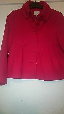 Girls Red Coat Next Age 9 To 10