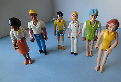 Lot of (6) 1970's Fisher Price Adventure People Vintage Play Figures