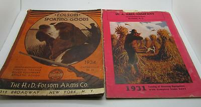 B2) 2 Vintage Hunting Catalogs: 34 Folsom Arms And 31 Abel