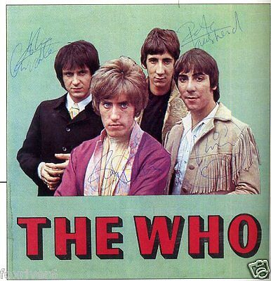 THE WHO Signed Photograph - Rock & Pop Stars - preprint