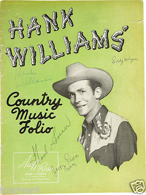 HANK WILLIAMS Signed Magazine Cover - Country & Western C&W Singer Star