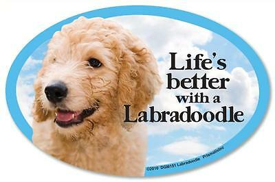 Life's Better With A Labradoodle Dog Car Fridge Plastic Magnet