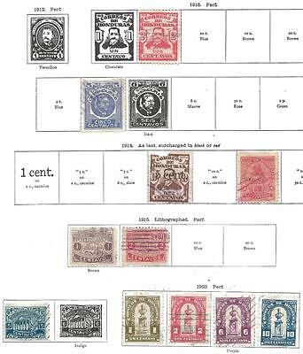 11 Honduras Stamps from Quality Old Album 1913-1923