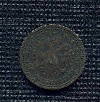 1851 A Austria One Kreuzer- Neat old copper coin