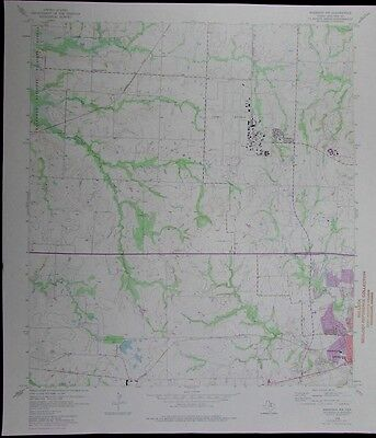 Sherman NW Texas County airfield Grayson County vintage 1975 old USGS Topo chart