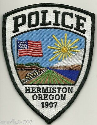 Hermiston Police State of OREGON OR Shoulder Patch TRAIN