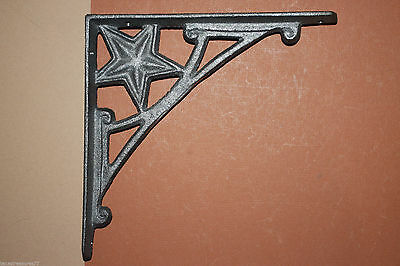 (4),shelf Brackets,lone Star,western,shelf Brackets,western Decor,diy,iron,b-13