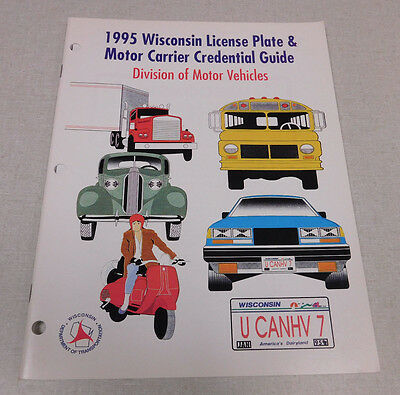 1995 Wisconsin License Plate & Motor Carrier Credential Guide DMV publication