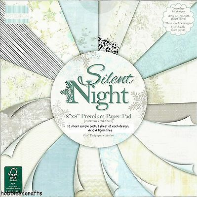Dovecraft Silent Nacht 8 X 8 Muster Packung Je 1 Design - 16 Blätter