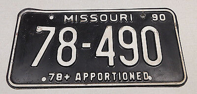 1990 Missouri apportioned license plate