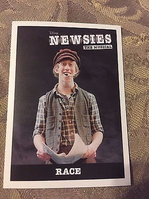 NEWSIES The Musical Broadway Trading Card Ryan Breslin Race