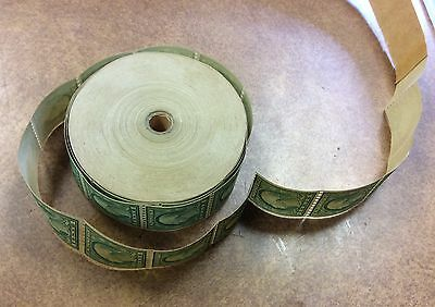 {BJ STAMPS} #486 ROTARY PRESS 1¢ COIL ROLL of 1,000,  Rare with leader 1918