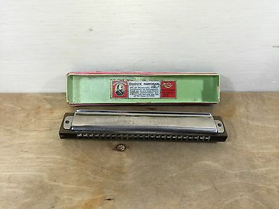 Vintage Hohner Rheingold Harmonica Germany tuned in G Mouth Organ