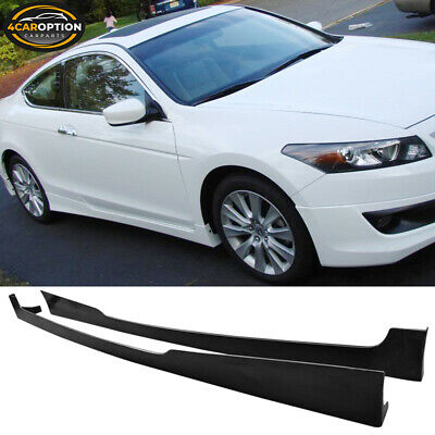 Fits 08-10 Honda Accord Coupe 2Dr Side Skirts PU Urethane Unpainted Extension