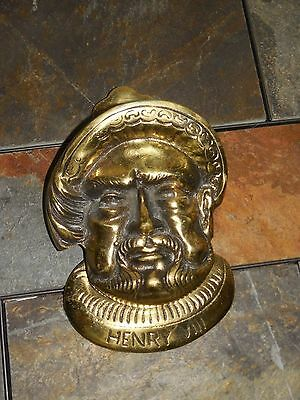Vintage Brass Door Knocker Henry VIII G T Britain England by B.E.L REG