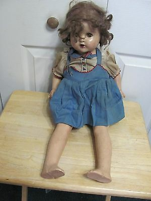 """vintage baby doll  estate sale find 24"""" Cloth body with composit"""