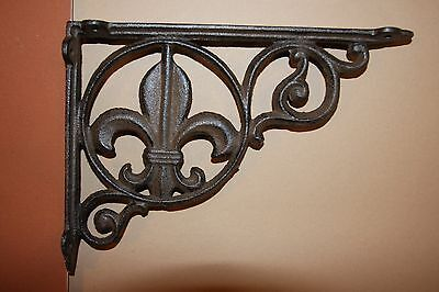 "(16) Saints Fleur De Lis Shelf Decor, Saints Wall Decor, 9"" Corbels, Rustic, B-3"