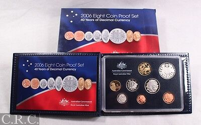 2006 Royal Australian Mint Proof Coin Set - 40 Years Decimal Currency